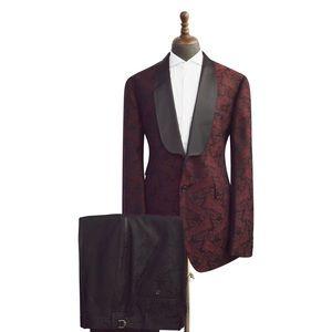 Men's Black lapel 2 Piece Suit